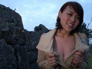 Toy insertion makes Reiko Nakamori cum hard