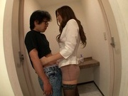 Kinky Asian amateur milf Yuna Shiina gives a handjob cute asian, asian babe}