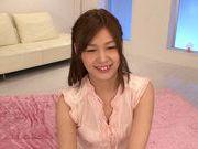 Lustful AV teen pornstar Hikaru Konno enjoys threesome bang