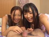 Sweet Yuu Asakura loves sucking in threesome picture 11