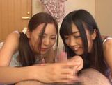 Sweet Yuu Asakura loves sucking in threesome