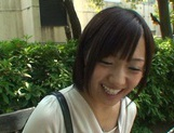 Short-haired Japanese girl with tiny tits gets fingered and pounded