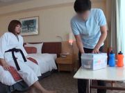 Tough Japanese sport girl gets slammed in a doggystyle