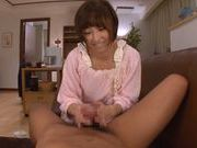 Ayumi Kimino Asian doll rides on a hard cock