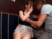 Horny Japanese milf Hana Nonoka sucks rod and gets screwed