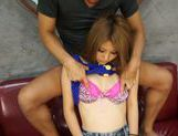 Rino Akane's tight teen pussy stretched open as she rides