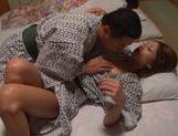 Teen japanese Risa Mizuki enjoys swallowing