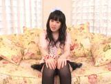 Beautiful milf Machiko Ono in a kinky solo anal penetration action