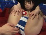 Cute Asian gal Nozomi Hazuki enjoys anal and pussy fisting and driling picture 5