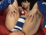 Cute Asian gal Nozomi Hazuki enjoys anal and pussy fisting and driling picture 8