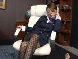 Risa Tsukino Hot Asian model is a wild horny stewardess