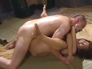 Stunning Japanese AV Model is banged by two males
