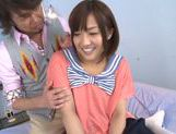 Luscious Japanese schoolgirl Miyo Arakawa is screwed rough picture 12
