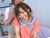 Luscious Japanese schoolgirl Miyo Arakawa is screwed rough picture 13