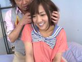 Luscious Japanese schoolgirl Miyo Arakawa is screwed rough picture 14
