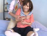 Luscious Japanese schoolgirl Miyo Arakawa is screwed rough picture 15