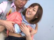 Luscious Japanese schoolgirl Miyo Arakawa is screwed rough