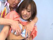 Luscious Japanese schoolgirl Miyo Arakawa is screwed roughasian ass, asian babe}