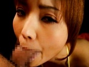 Riona Suzune Japanese model sucks long cock