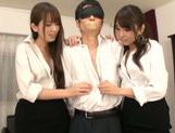 Yui Hatano likes to share in threesome sex picture 6