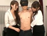 Yui Hatano likes to share in threesome sex picture 7