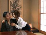 Mai Hanano Japanese milf fucks old man picture 1