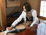Mai Hanano Japanese milf fucks old man picture 7