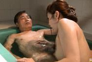 Yuu Kawakami Asian milf is bathing dirty old manjapanese boobs, huge tits