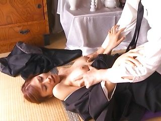 Cock sucking by a hot mature Akari Asahina