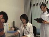 Very pretty Japanese AV Model nurses give professional blowjob