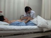 Amateur Japanese nurse gives head at work