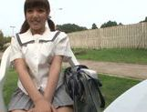 Alluring Asian teen Mao Hamasaki decides to fuck outside picture 14