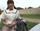 Alluring Asian teen Mao Hamasaki decides to fuck outside