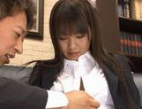 Hikaru Ayuhara is a clumsy, but sexy office girl who likes to fuck picture 12
