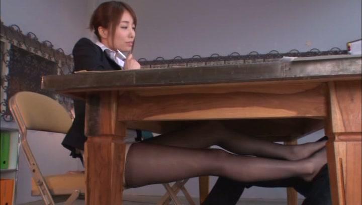Leggy Japanese office babe Arisu Miyuki deepthroats her lover on povasian tits, japanese boobs, asian boobs