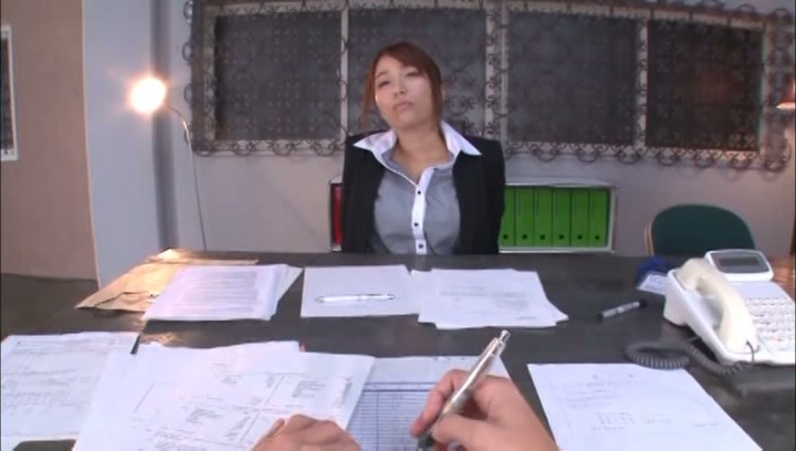 Leggy Japanese office babe Arisu Miyuki deepthroats her lover on povjapanese tits, huge tits, japanese boobs