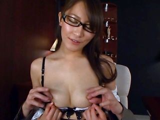 Lovely Japanese chick in office suit Miku Aoki hardcore action