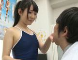 Savory Asian teen Rin Suzune is screwed by a horny doc picture 14