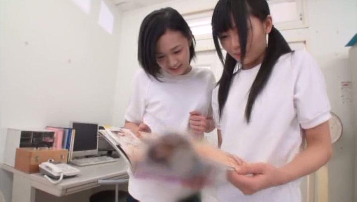 Kinky Tokyo schoolgirls gets pleasure of threesome sex action