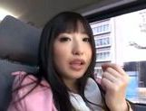 Kinky Japanese teen Arisa Nakano gets screwed in a car picture 12
