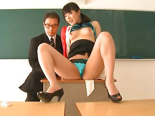 Sexy teacher Kana Yume likes to play with pussy