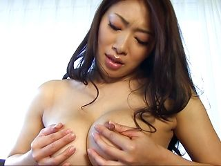 Gracious mature hottie Reiko Kobayakawa demonstrates her big tits
