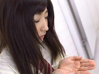 Rin Yamagishi naughty Asian teen in POV blowjob porn