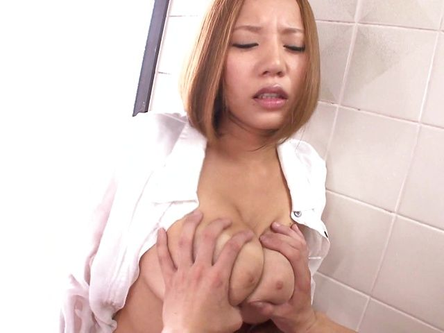 Arousing Asian beauty Ruri Saijo enjoys tough tit fucking