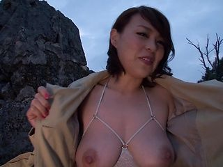 Toy insertion makes Reiko Nakamori cum hard