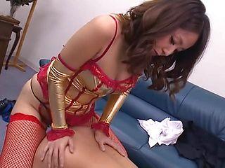 Nao Katoh plays nasty in sleazy femdom porn scene