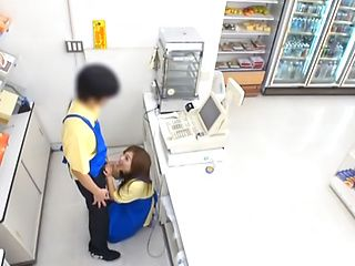 Hot Asian milf fucks in public when she is at work