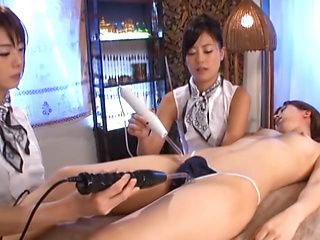 Naughty Asian lesbians in a hot group sex party