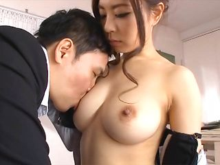 Misuzu Imai is fucked hard in ripped pantyhose by her boss