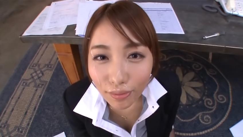 Leggy Japanese office babe Arisu Miyuki deepthroats her lover on pov